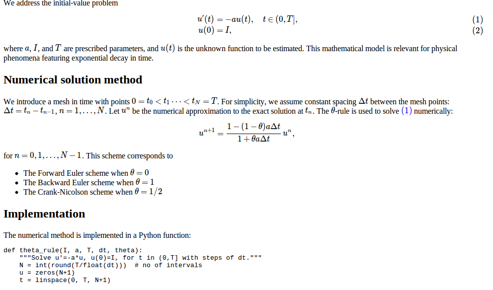Finite Difference Methods For First Order Odes