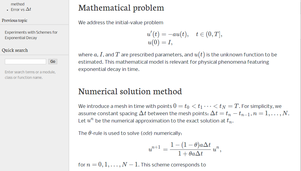 Finite difference methods for first-order ODEs — Finite