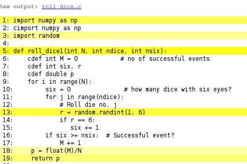 code in c